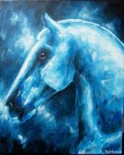"""""""Portrait bleu"""", oeuvre à découvrir dans la boutique Bleu Attitude."""